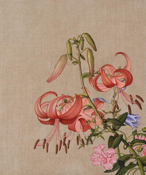 盧昉-郎世寧摹寫  A Study to Giuseppe Castiglione's Oil Painting Experiment