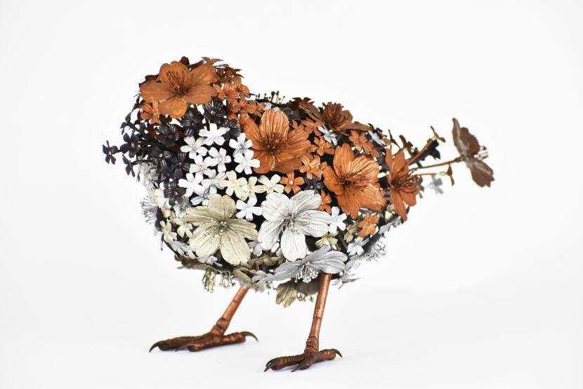 吉田泰一郎-花雀 Flower Sparrow