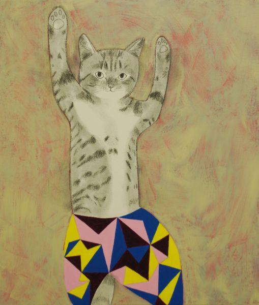 宮城勝規-擊掌歡呼的貓Cat High Fire