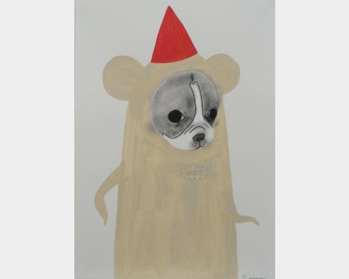 宮城勝規-帶著紅色尖帽的狗 SPIRIT ⾚尖がり帽⼦の⽝