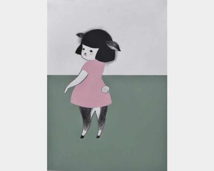 宮城勝規-粉紅鹿斑比Pink Bambing (Drawing)