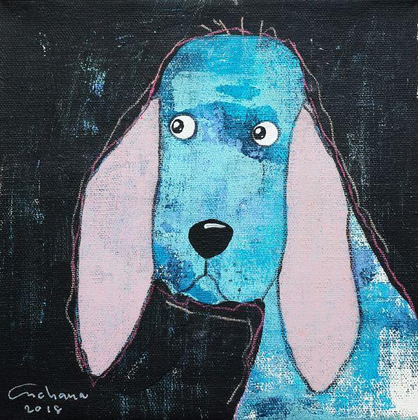 安恰娜‧恰麗亞琶朋-黑色系列:寵愛狗狗 #1Black Series: Love Puppy #1