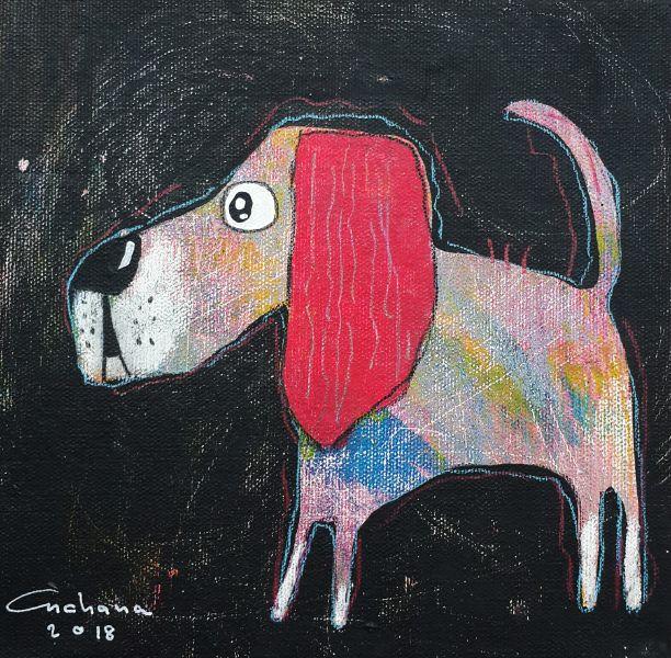 安恰娜 ‧ 恰麗亞琶朋-黑色系列:寵愛狗狗 #7Black Series: Love Puppy #7