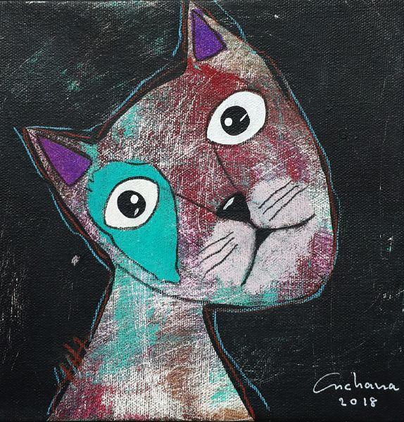 安恰娜‧恰麗亞琶朋-黑色系列:寵愛貓咪 #5Black Series: Love Kitty #5
