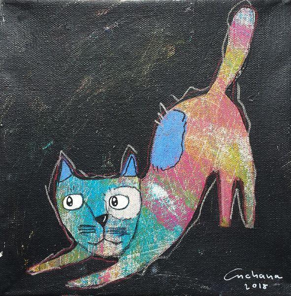 安恰娜‧恰麗亞琶朋-黑色系列:寵愛貓咪 #4Black Series: Love Kitty #4