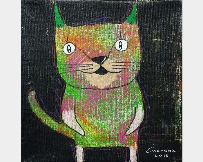 安恰娜‧恰麗亞琶朋-黑色系列:寵愛貓咪 #2Black Series: Love Kitty #2