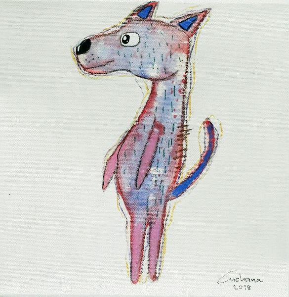安恰娜‧恰麗亞琶朋-白色系列:寵愛狗狗 #2White Series: Love Puppy #2