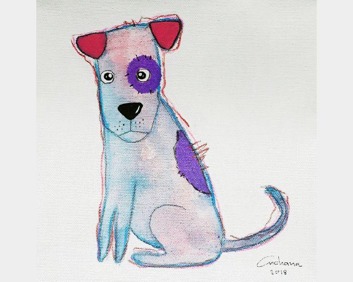 安恰娜‧恰麗亞琶朋-白色系列:寵愛狗狗 #1White Series: Love Puppy #1