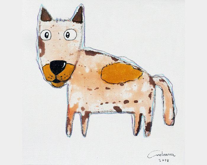 安恰娜‧恰麗亞琶朋-白色系列:寵愛狗狗 #3White Series: Love Puppy #3