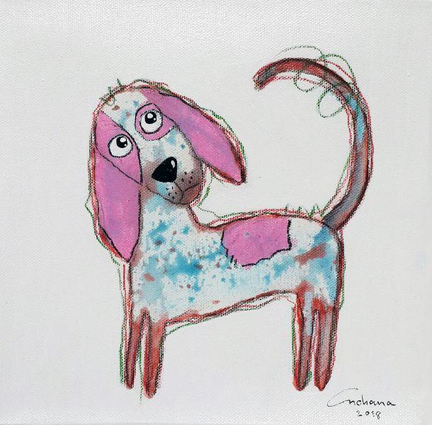 安恰娜‧恰麗亞琶朋-白色系列:寵愛狗狗 #6White Series: Love Puppy #6