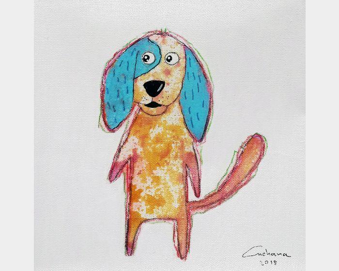 安恰娜‧恰麗亞琶朋-白色系列:寵愛狗狗 #4White Series: Love Puppy #4