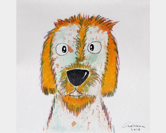 安恰娜‧恰麗亞琶朋-白色系列:寵愛狗狗 #10White Series: Love Puppy #10