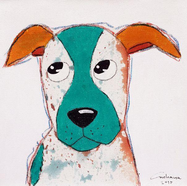 安恰娜‧恰麗亞琶朋-白色系列:寵愛狗狗 #9White Series: Love Puppy #9