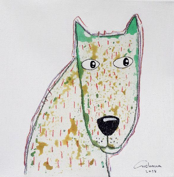 安恰娜‧恰麗亞琶朋-白色系列:寵愛狗狗 #12White Series: Love Puppy #12