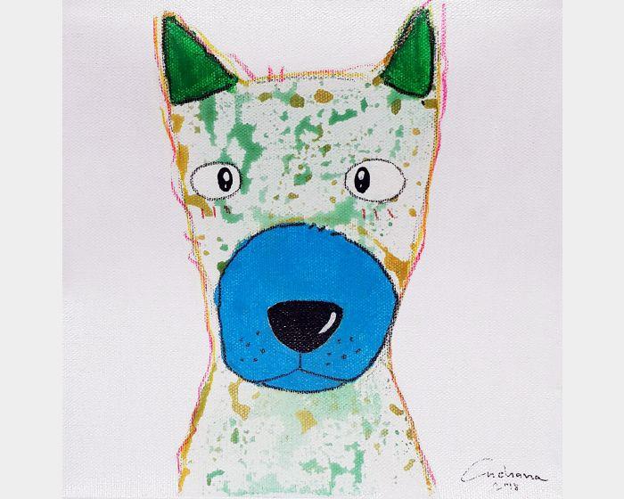 安恰娜‧恰麗亞琶朋-白色系列:寵愛狗狗 #7White Series: Love Puppy #7