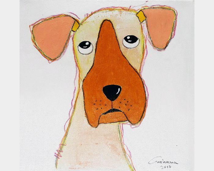 安恰娜‧恰麗亞琶朋-白色系列:寵愛狗狗 #14White Series: Love Puppy #14