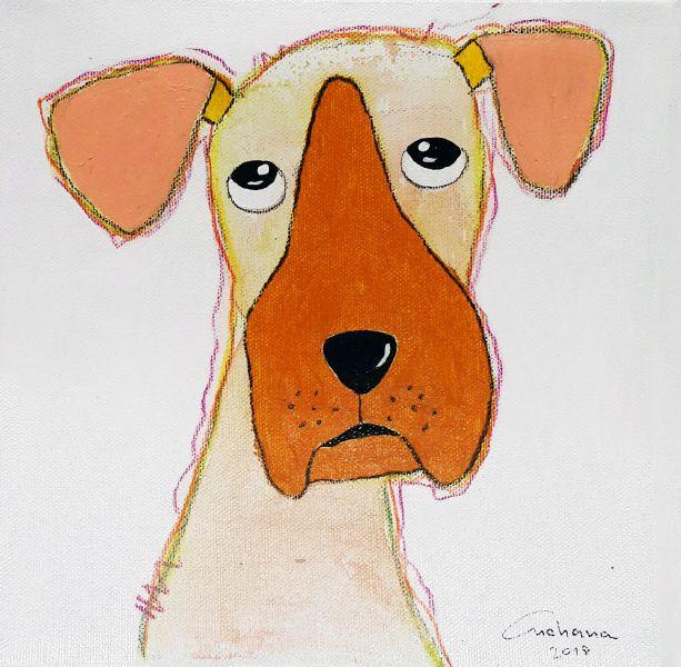 安恰娜 ‧ 恰麗亞琶朋-白色系列:寵愛狗狗 #14White Series: Love Puppy #14