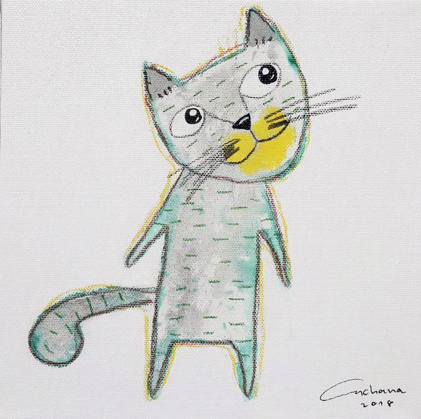安恰娜‧恰麗亞琶朋-白色系列:寵愛貓咪 #2White Series: Love Kitty #2