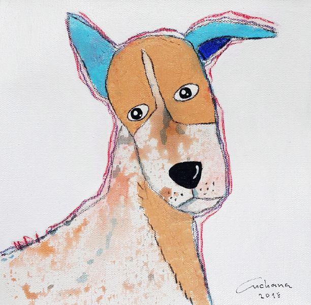 安恰娜‧恰麗亞琶朋-白色系列:寵愛狗狗 #13White Series: Love Puppy #13