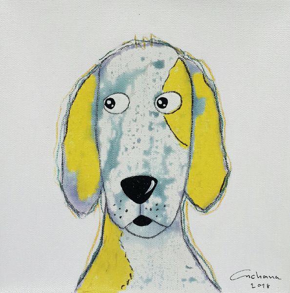 安恰娜‧恰麗亞琶朋-白色系列:寵愛狗狗 #15White Series: Love Puppy #15