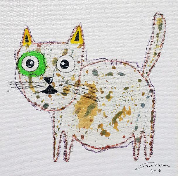 安恰娜‧恰麗亞琶朋-白色系列:寵愛貓咪 #1White Series: Love Kitty #1