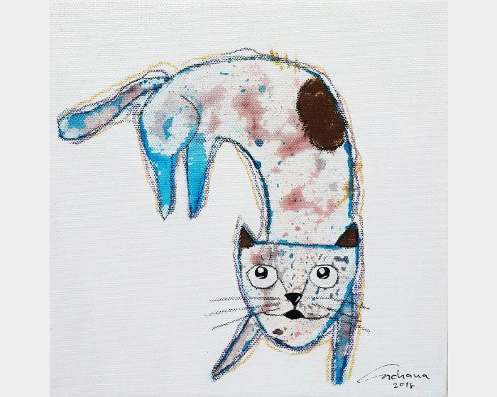 安恰娜 ‧ 恰麗亞琶朋-白色系列:寵愛貓咪 #7White Series: Love Kitty #7