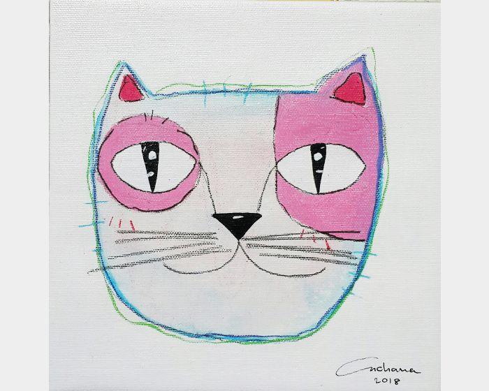 安恰娜 ‧ 恰麗亞琶朋-白色系列:寵愛貓咪 #4White Series: Love Kitty #4