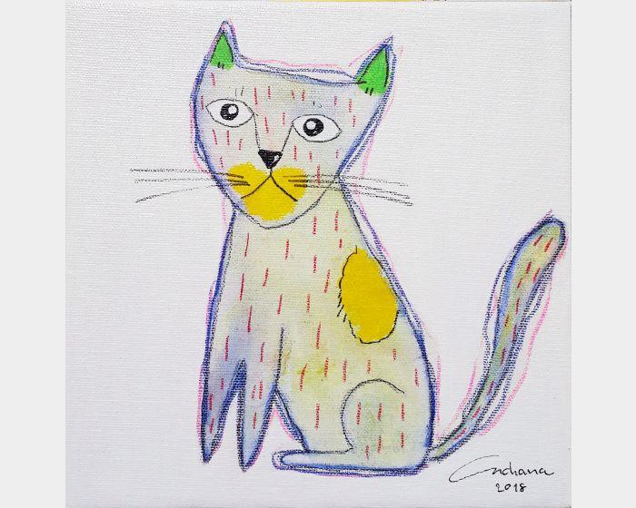 安恰娜 ‧ 恰麗亞琶朋-白色系列:寵愛貓咪 #8White Series: Love Kitty #8