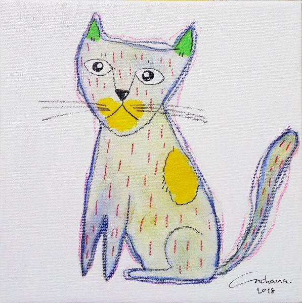 安恰娜‧恰麗亞琶朋-白色系列:寵愛貓咪 #8White Series: Love Kitty #8