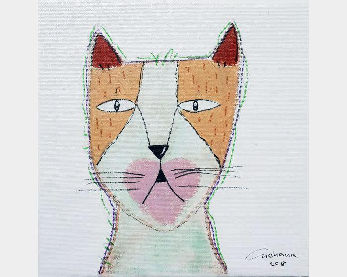 安恰娜‧恰麗亞琶朋-白色系列:寵愛貓咪 #5White Series: Love Kitty #5