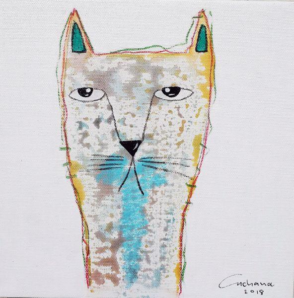 安恰娜‧恰麗亞琶朋-白色系列:寵愛貓咪 #3White Series: Love Kitty #3