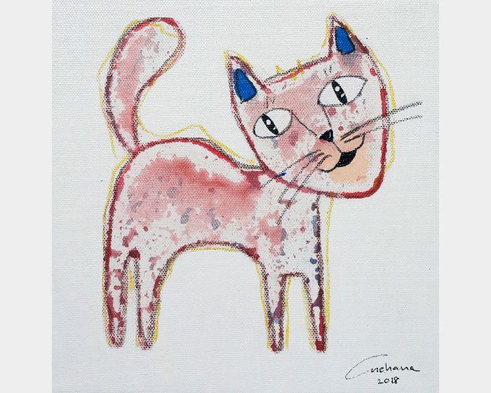 安恰娜‧恰麗亞琶朋-白色系列:寵愛貓咪 #6White Series: Love Kitty #6