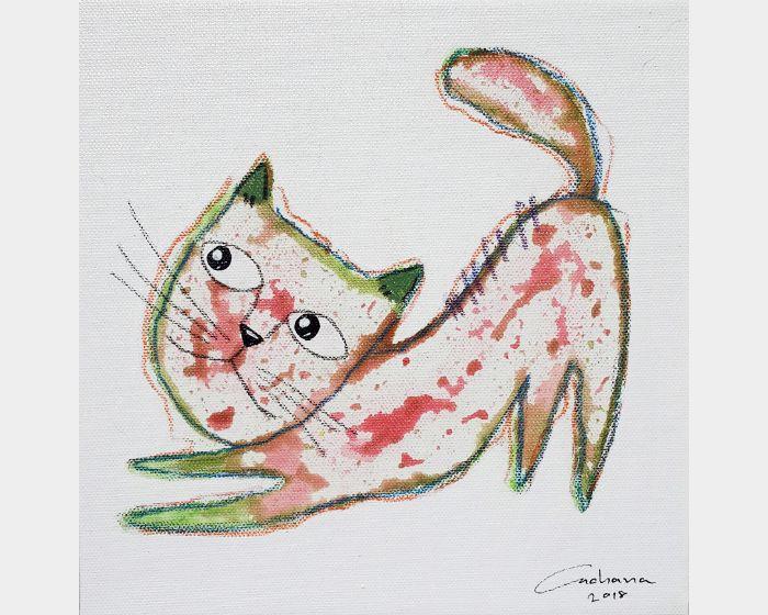 安恰娜 ‧ 恰麗亞琶朋-白色系列:寵愛貓咪 #11White Series: Love Kitty #11