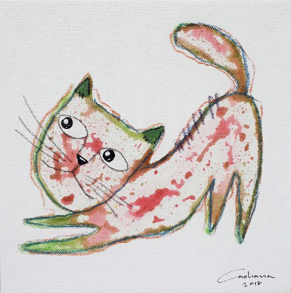 安恰娜‧恰麗亞琶朋-白色系列:寵愛貓咪 #11White Series: Love Kitty #11