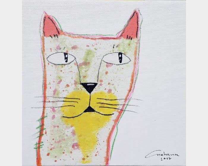 安恰娜‧恰麗亞琶朋-白色系列:寵愛貓咪 #10White Series: Love Kitty #10