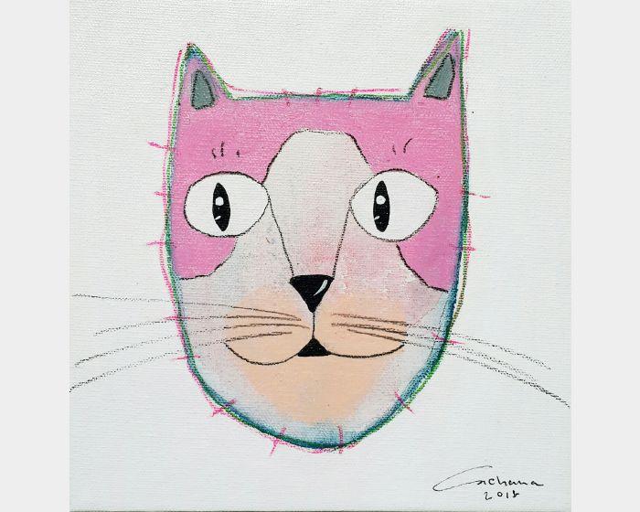 安恰娜 ‧ 恰麗亞琶朋-白色系列:寵愛貓咪 #12White Series: Love Kitty #12