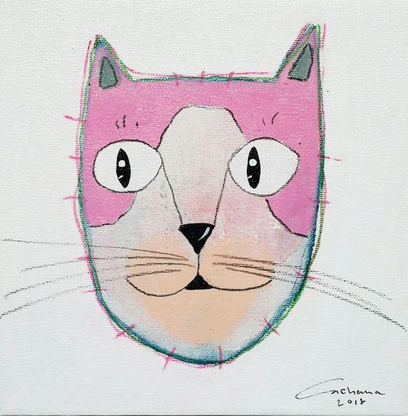 安恰娜‧恰麗亞琶朋-白色系列:寵愛貓咪 #12White Series: Love Kitty #12