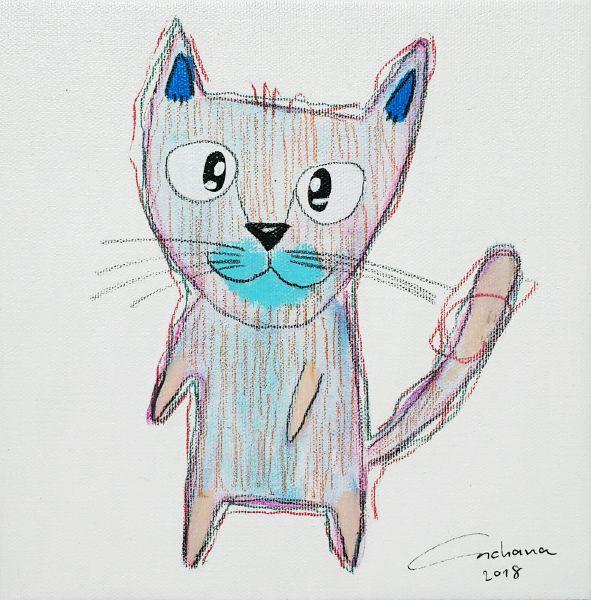 安恰娜‧恰麗亞琶朋-白色系列:寵愛貓咪 #9White Series: Love Kitty #9