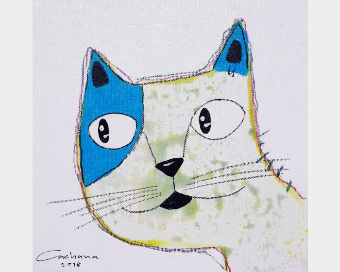安恰娜‧恰麗亞琶朋-白色系列:寵愛貓咪 #13White Series: Love Kitty #13