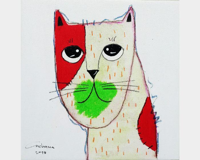 安恰娜 ‧ 恰麗亞琶朋-白色系列:寵愛貓咪 #14White Series: Love Kitty #14
