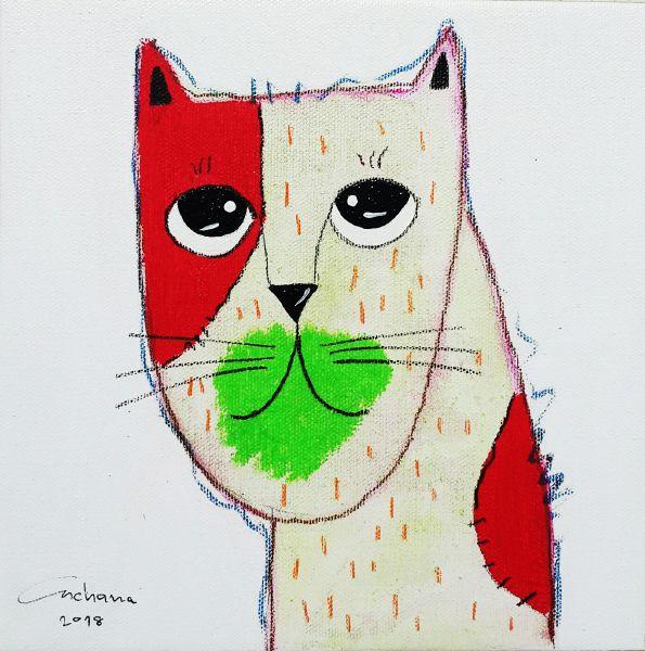 安恰娜‧恰麗亞琶朋-白色系列:寵愛貓咪 #14White Series: Love Kitty #14