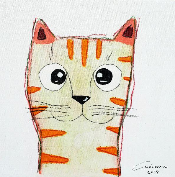 安恰娜‧恰麗亞琶朋-白色系列:寵愛貓咪 #15White Series: Love Kitty #15