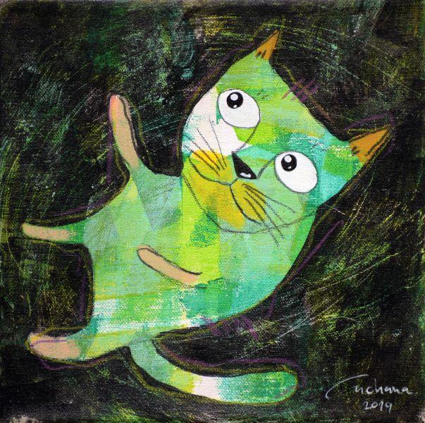 安恰娜‧恰麗亞琶朋-(NEW)黑色系列:寵愛貓咪 #7