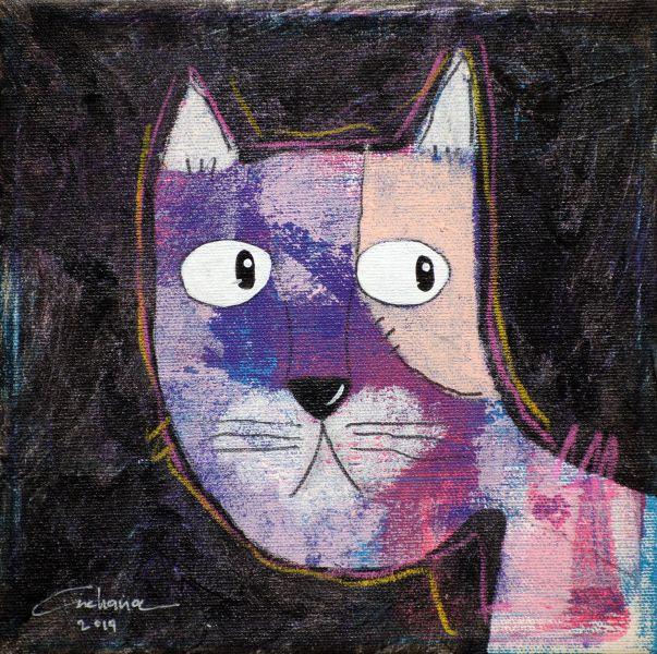 安恰娜‧恰麗亞琶朋-(NEW)黑色系列:寵愛貓咪 #12