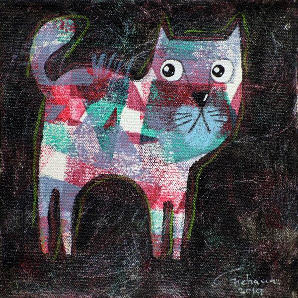 安恰娜‧恰麗亞琶朋-(NEW)黑色系列:寵愛貓咪 #10