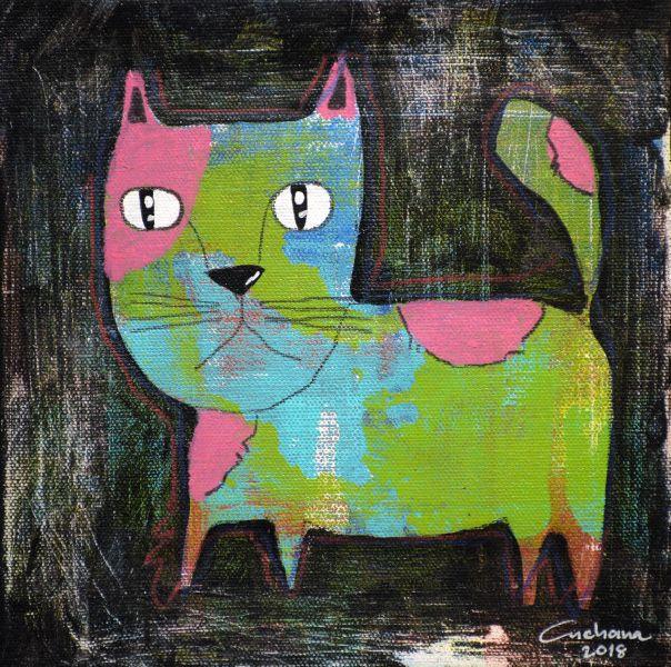 安恰娜‧恰麗亞琶朋-(NEW)黑色系列:寵愛貓咪 #8