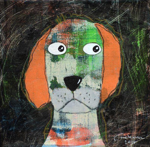 安恰娜‧恰麗亞琶朋-(NEW)黑色系列:寵愛狗狗 #13
