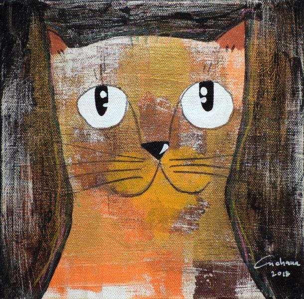 安恰娜‧恰麗亞琶朋-(NEW)黑色系列:寵愛貓咪 #9