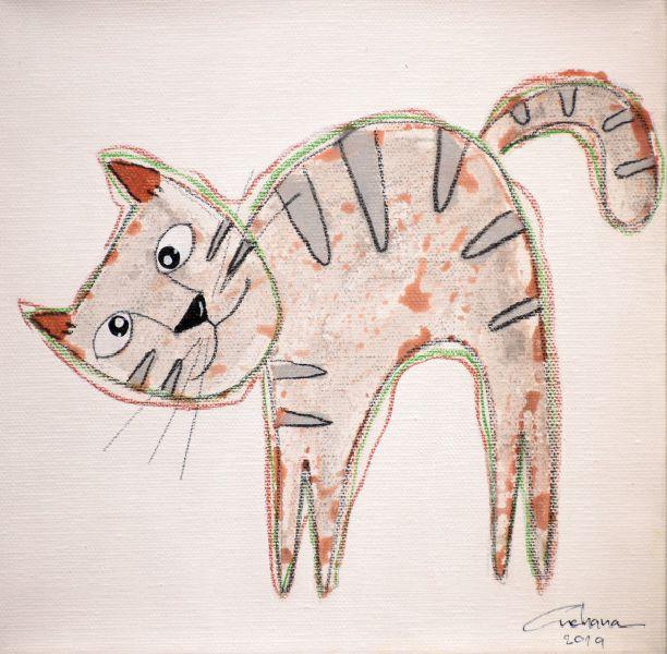 安恰娜‧恰麗亞琶朋-(NEW)白色系列:寵愛貓咪 #19