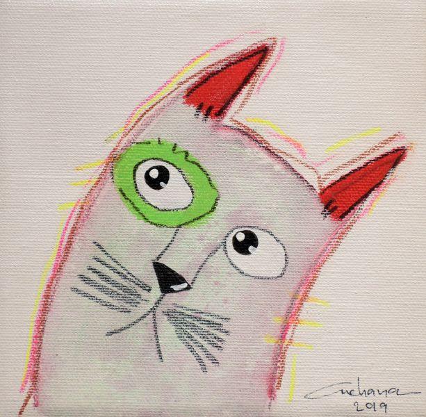 安恰娜‧恰麗亞琶朋-(NEW)白色系列:寵愛貓咪 #1